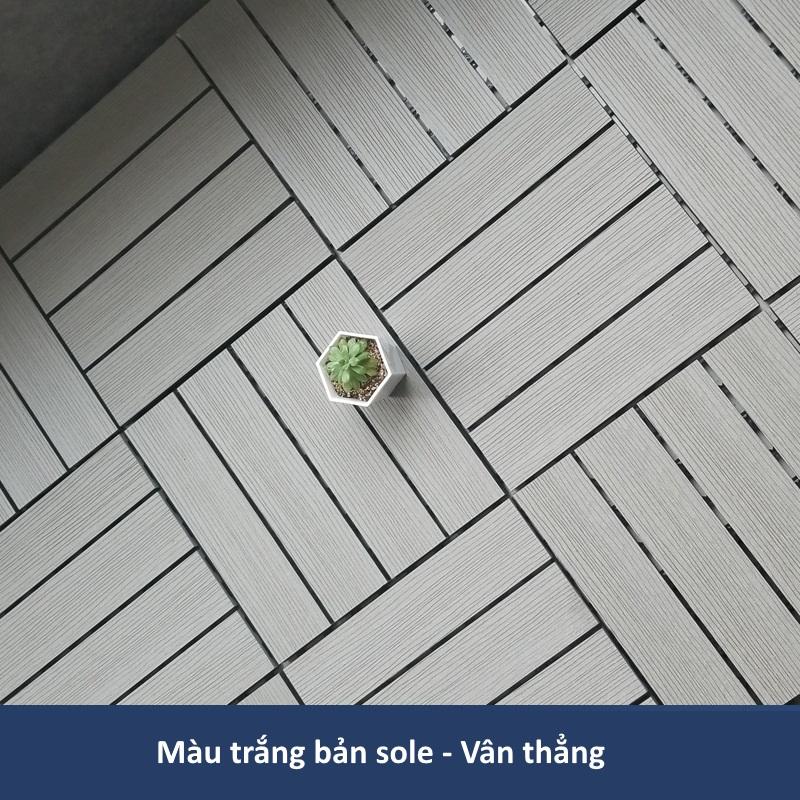 Sàn gỗ nhựa GA01-B màu trắng