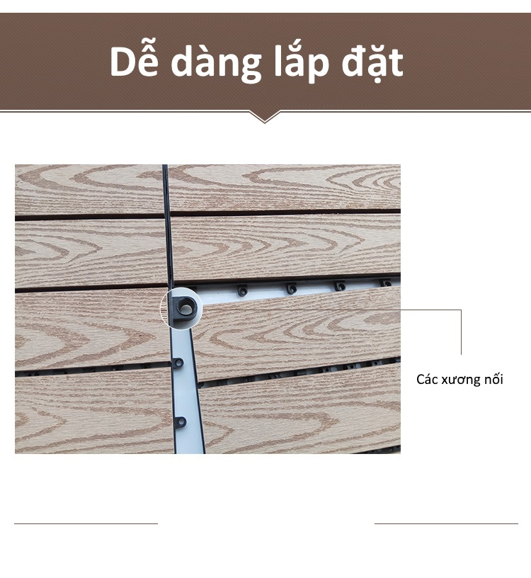 Ưu điểm của sàn gỗ nhựa GA01