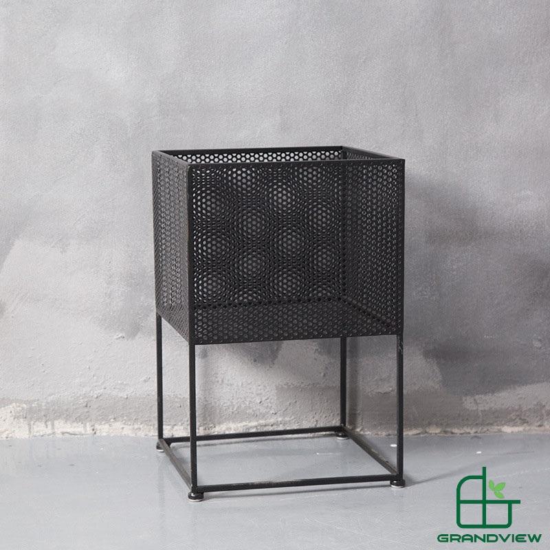Chậu hoa khung kim loại CKL01 màu đen