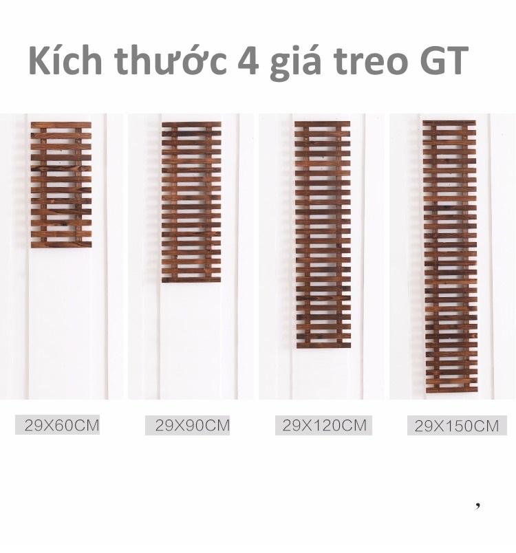 Kích thước 4 giá treo GT