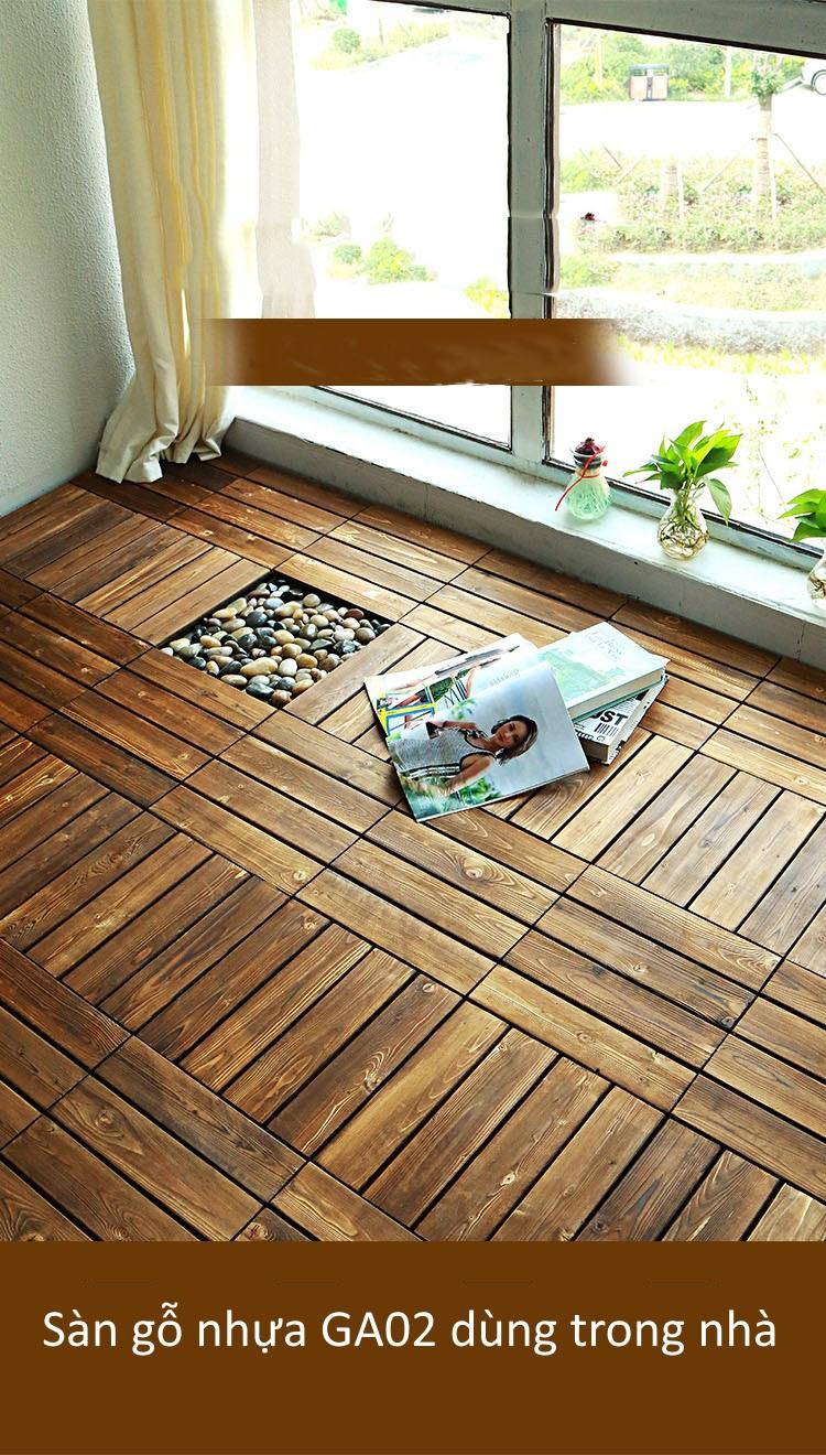 Sàn gỗ GA02 lắp đặt trong nhà