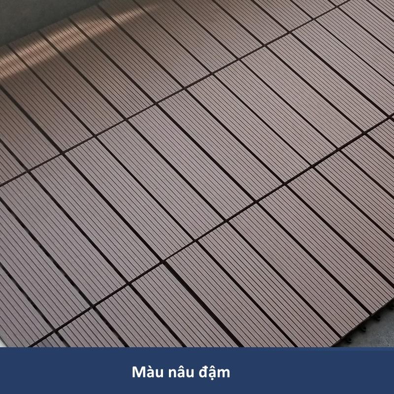 Sàn gỗ nhựa GA01-C màu nâu đen