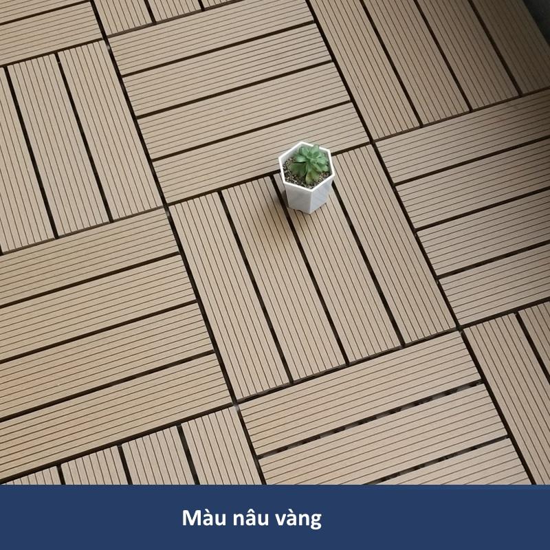 Sàn gỗ nhựa GA01-C màu nâu vàng