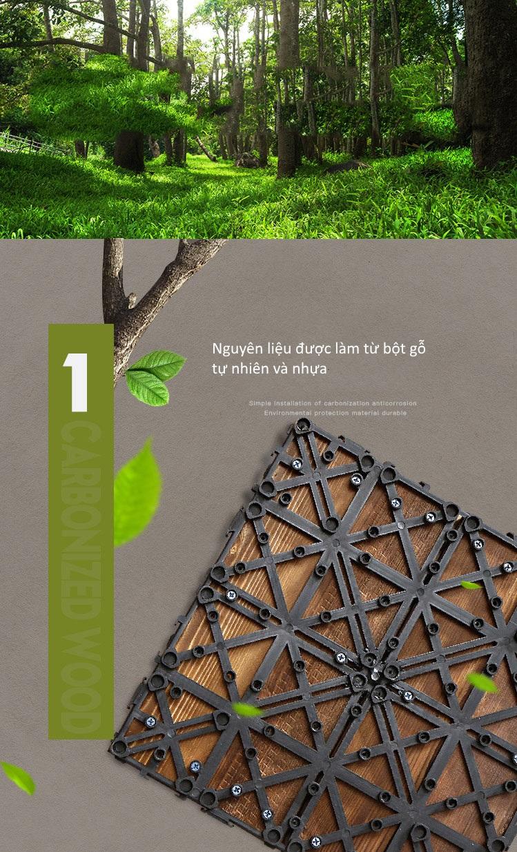Ưu điểm 1 của sàn gỗ nhựa GA02